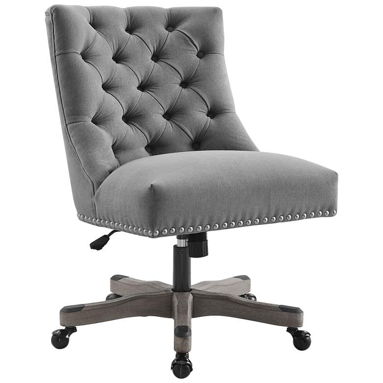 Empress Gray Tufted Adjustable Swivel Office Chair