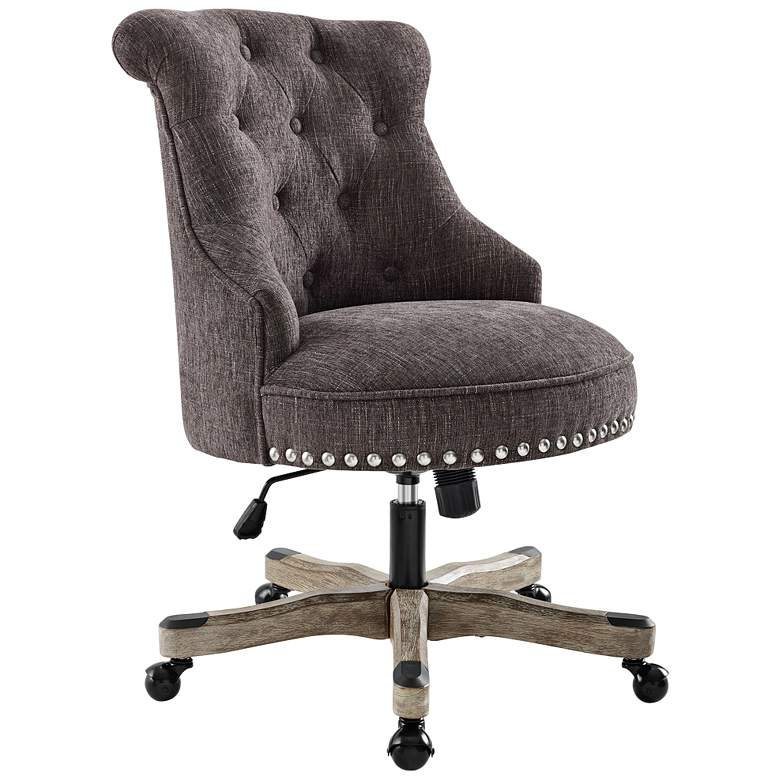 Sinclair Charcoal Tufted Adjustable Swivel Office Chair