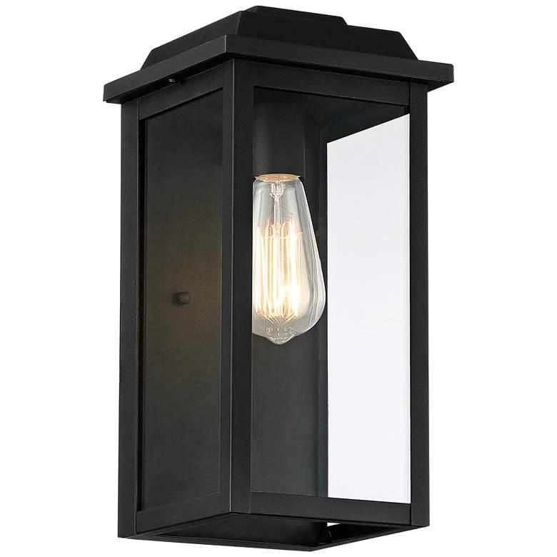 "West Gate 14"" High Textured Black Finish Steel Outdoor Wall Light"