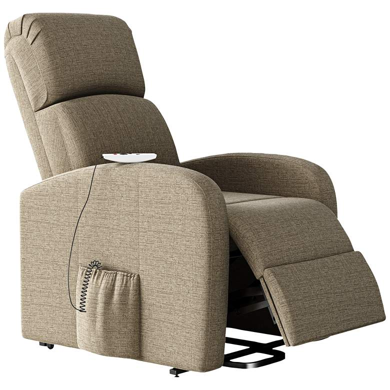 ProLounger Recline Lift Chair with Heat Massage in Tan