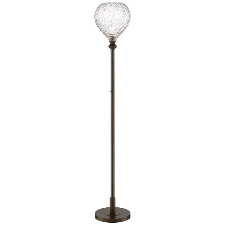 La Salle Hammered Glass Torchiere Floor Lamp by Possini Euro Design