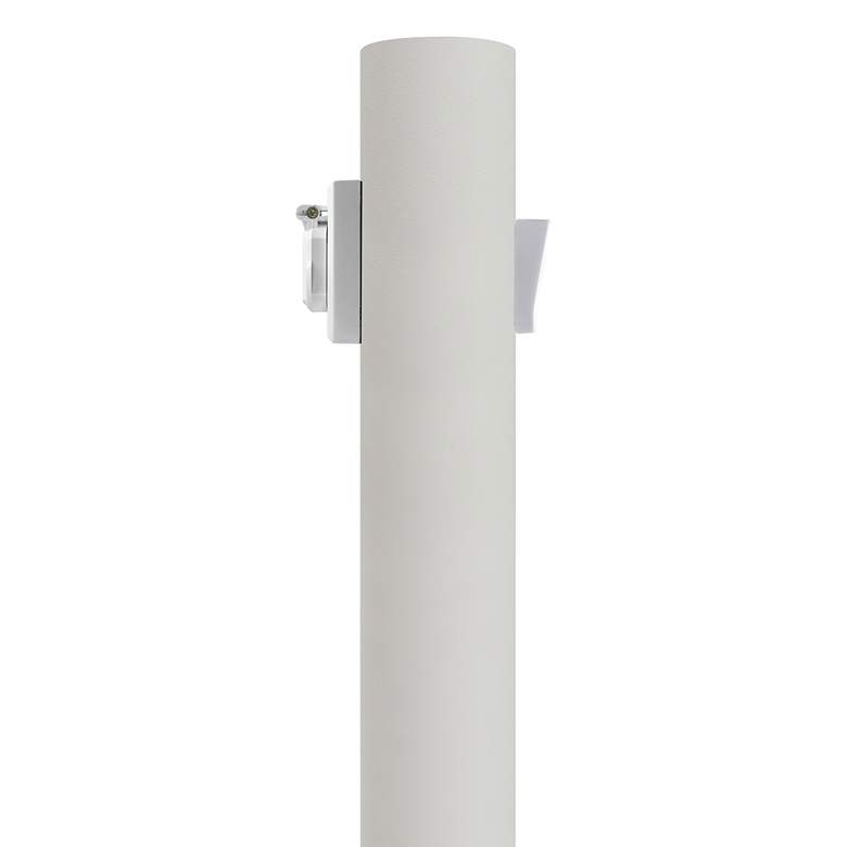 """White 84"""" High Outlet Dusk-to-Dawn Direct Burial Lamp Post"""