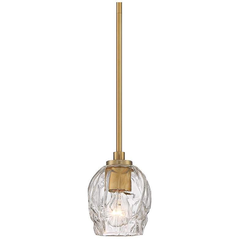 "Stiffel Veronica 5 1/4"" Wide Gold and Glass Mini Pendant Light"