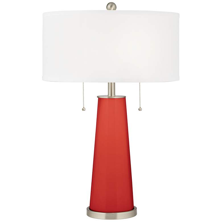 Cherry Tomato Peggy Glass Table Lamp