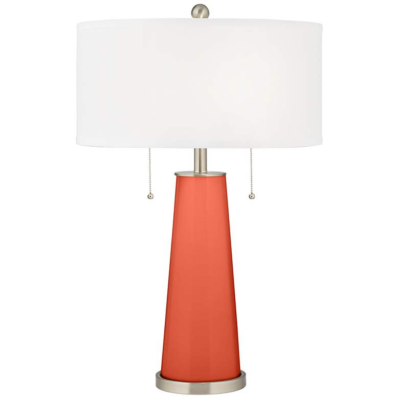 Daring Orange Peggy Glass Table Lamp