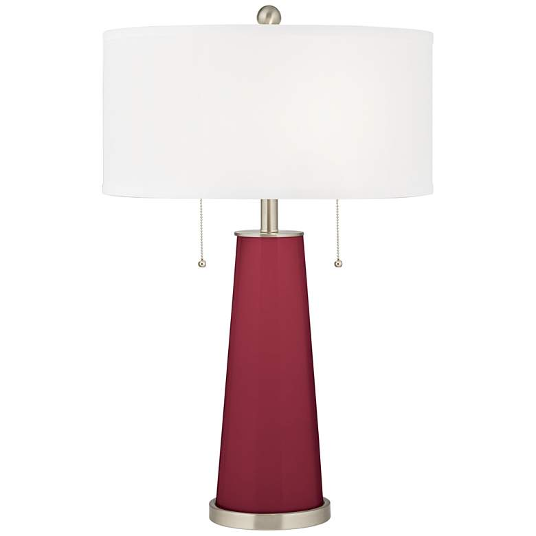 Antique Red Peggy Glass Table Lamp