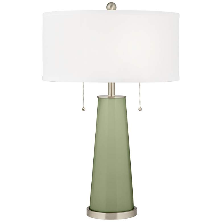 Majolica Green Peggy Glass Table Lamp