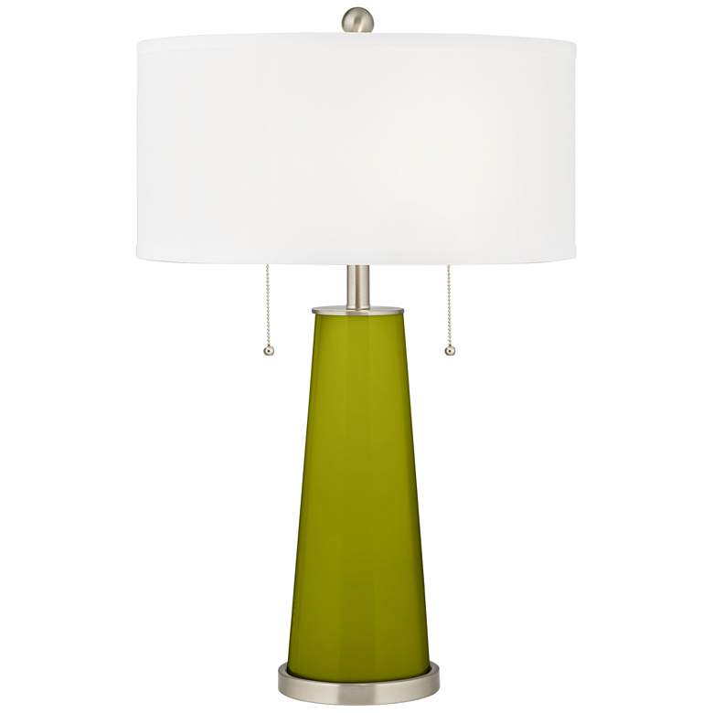 Olive Green Peggy Glass Table Lamp