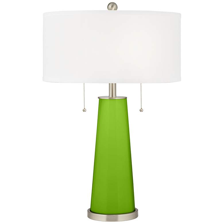 Neon Green Peggy Glass Table Lamp