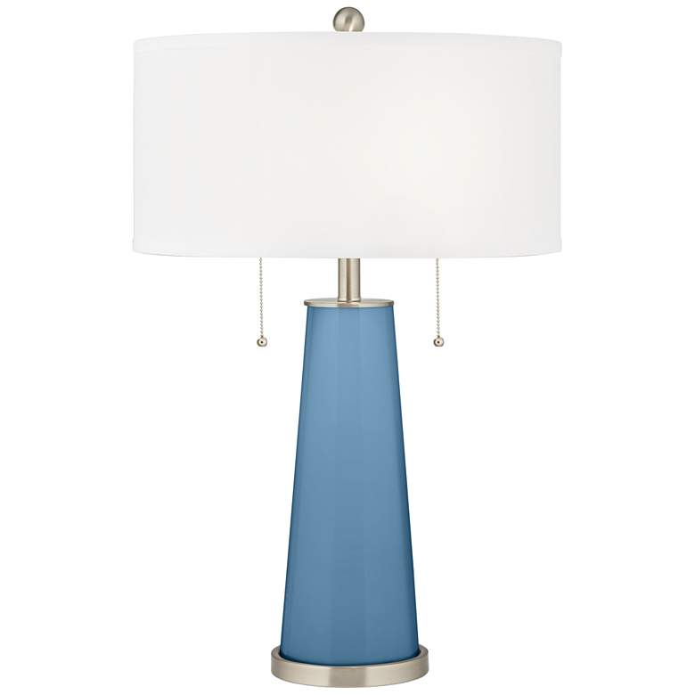 Secure Blue Peggy Glass Table Lamp