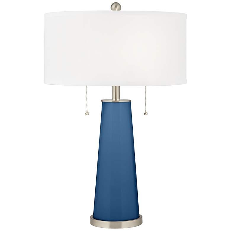 Regatta Blue Peggy Glass Table Lamp