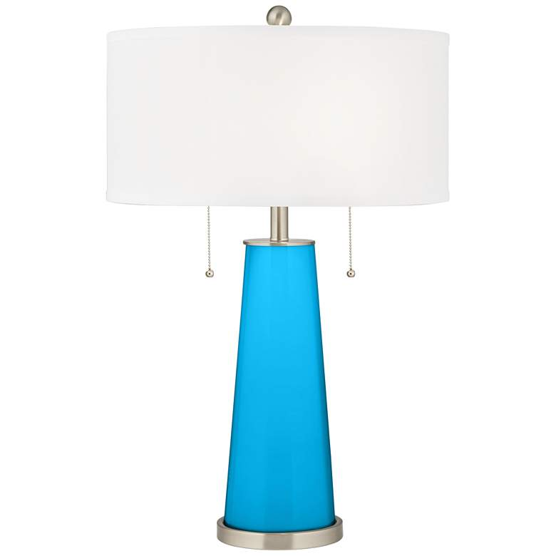 Sky Blue Peggy Glass Table Lamp