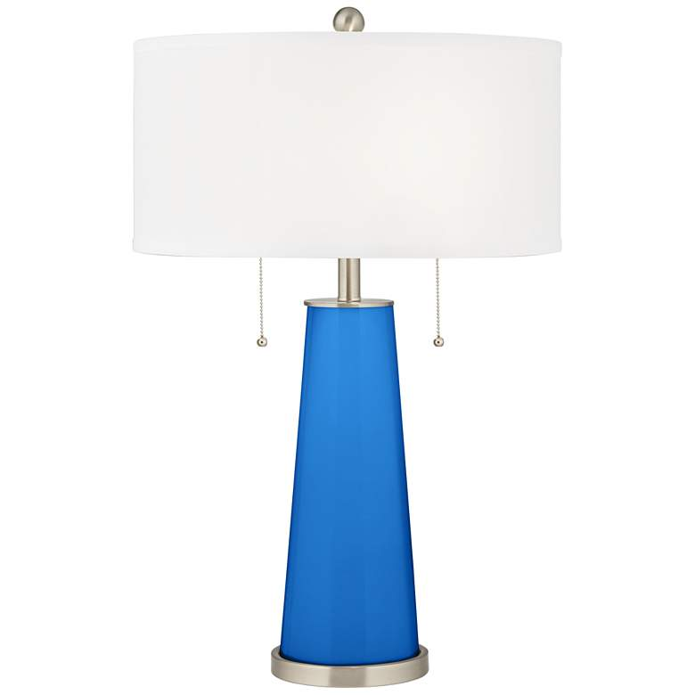 Royal Blue Peggy Glass Table Lamp