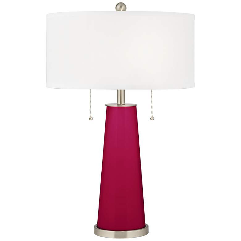 French Burgundy Peggy Glass Table Lamp