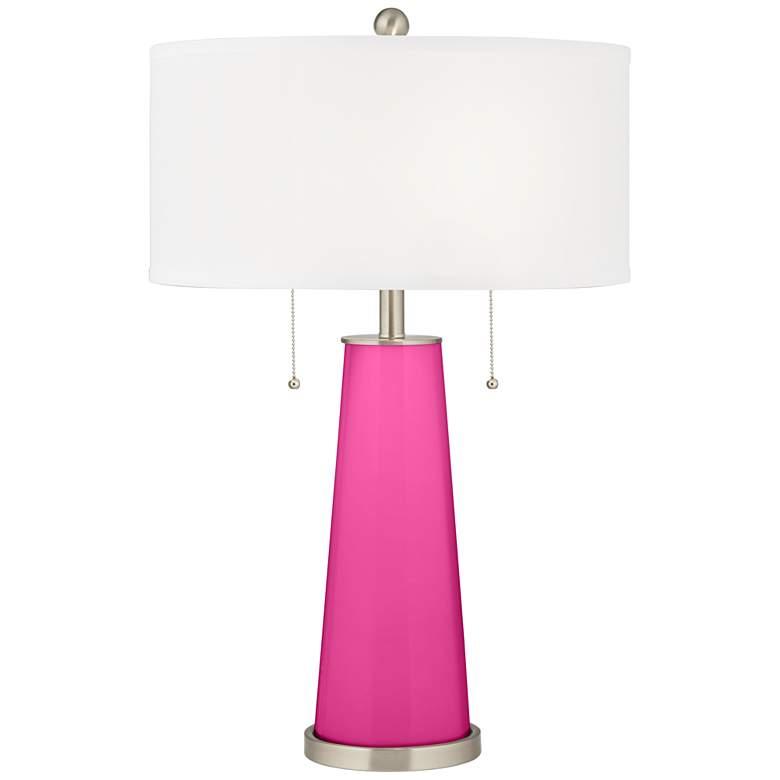 Fuchsia Peggy Glass Table Lamp