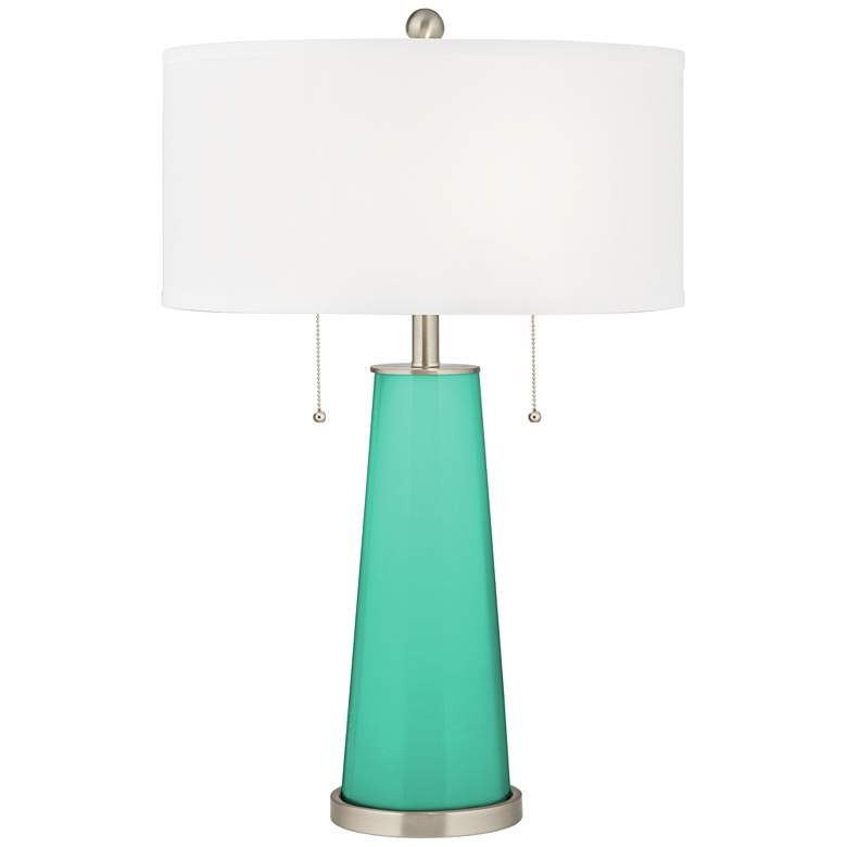 Turquoise Peggy Glass Table Lamp