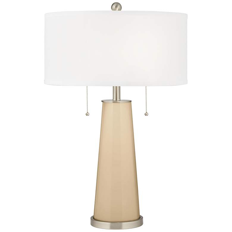 Colonial Tan Peggy Glass Table Lamp