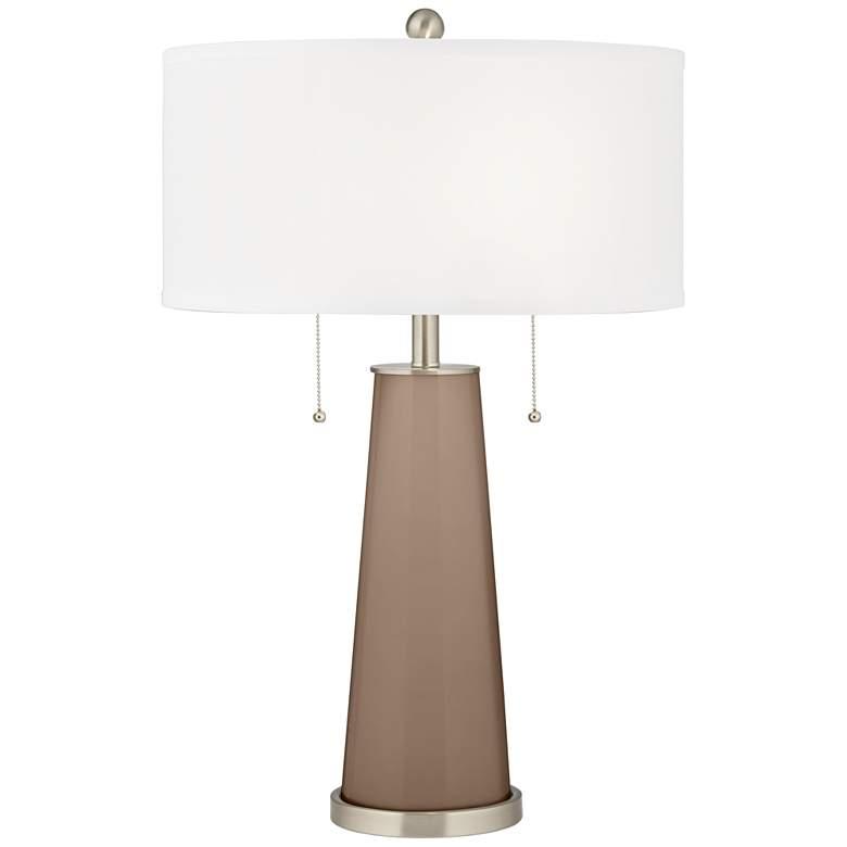 Mocha Peggy Glass Table Lamp