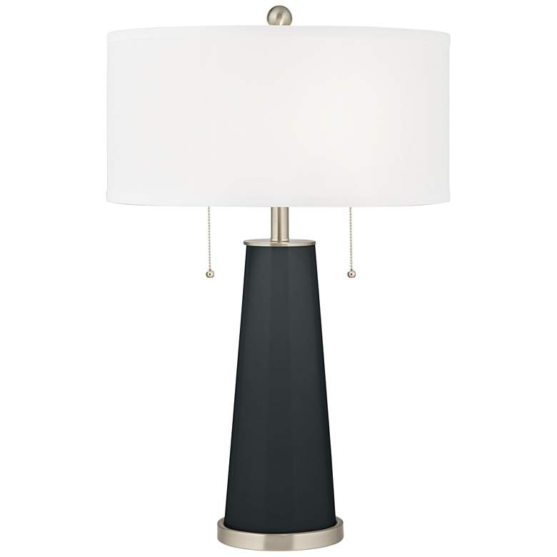 Black of Night Peggy Glass Table Lamp
