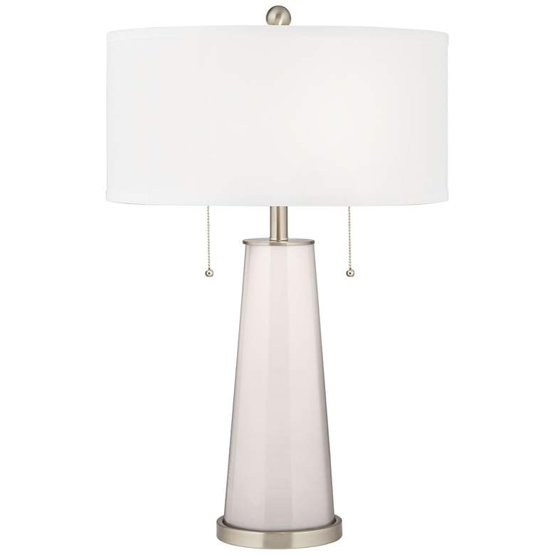 Smart White Peggy Glass Table Lamp
