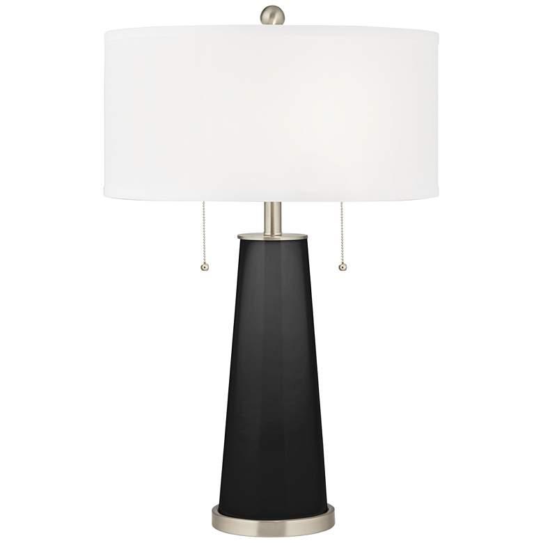 Tricorn Black Peggy Glass Table Lamp