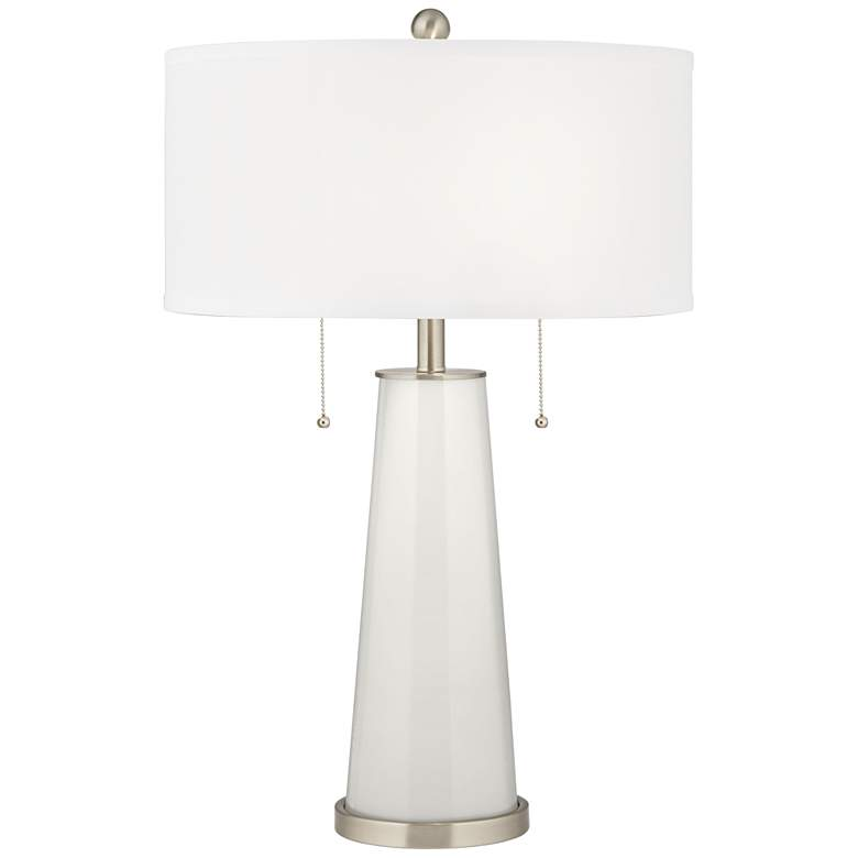 Winter White Peggy Glass Table Lamp