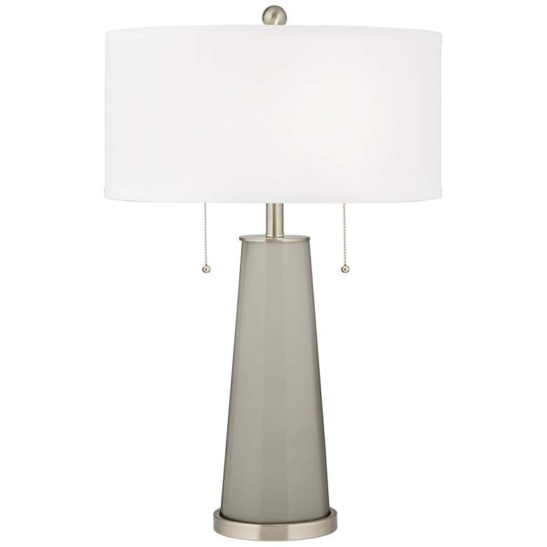 Requisite Gray Peggy Glass Table Lamp
