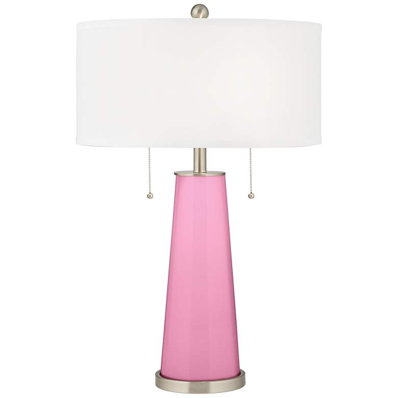 Candy Pink Peggy Glass Table Lamp