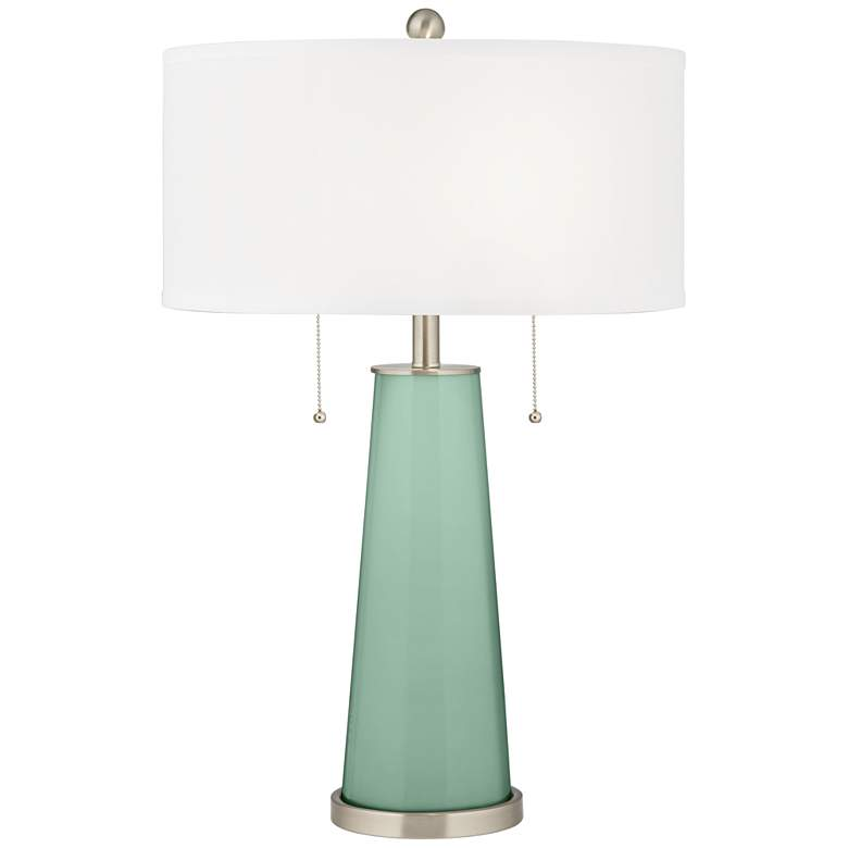 Grayed Jade Peggy Glass Table Lamp