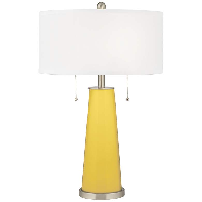 Lemon Zest Peggy Glass Table Lamp