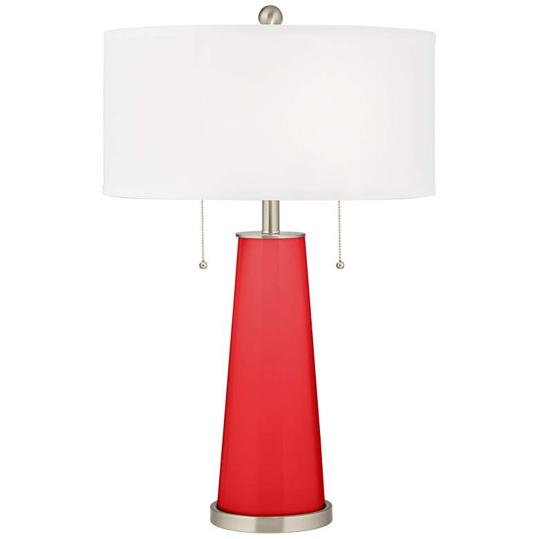 Poppy Red Peggy Glass Table Lamp