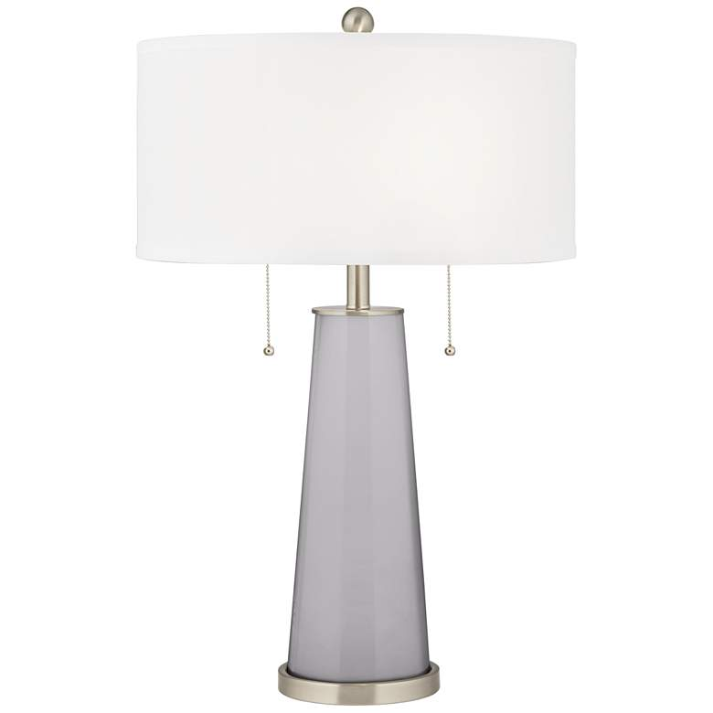 Swanky Gray Peggy Glass Table Lamp