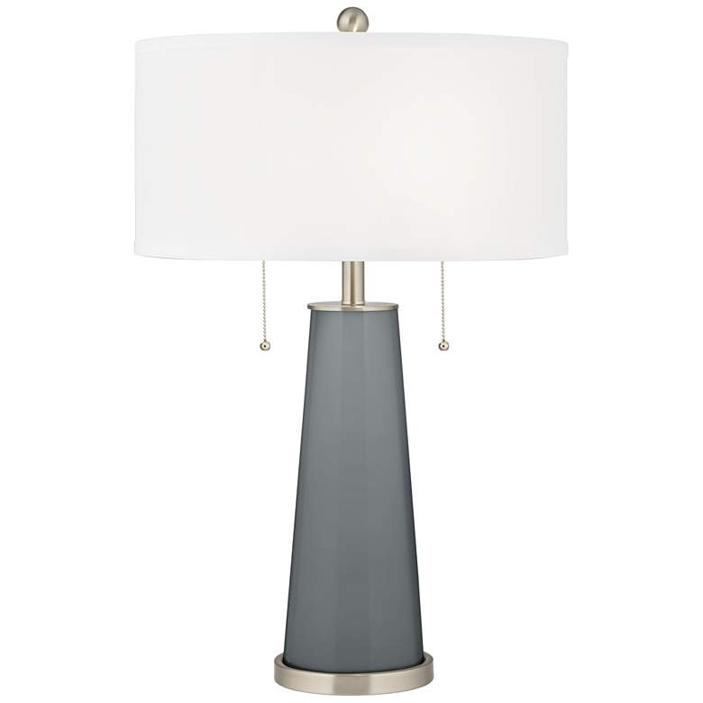 Software Gray Peggy Glass Table Lamp