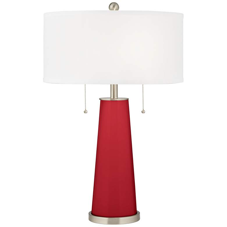 Ribbon Red Peggy Glass Table Lamp