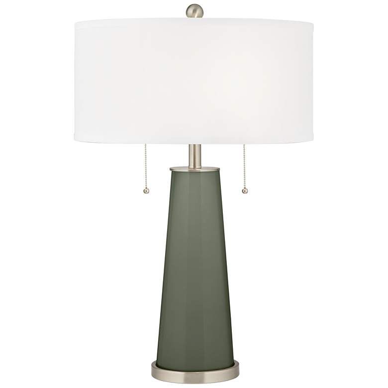 Deep Lichen Green Peggy Glass Table Lamp