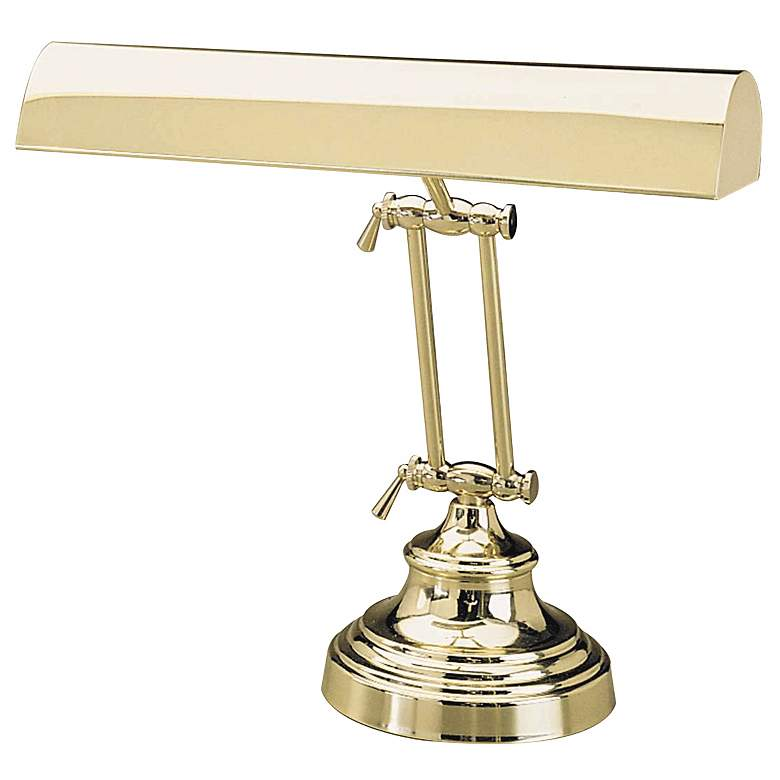Polished Brass Adjustable Banker Piano Lamp by House of Troy