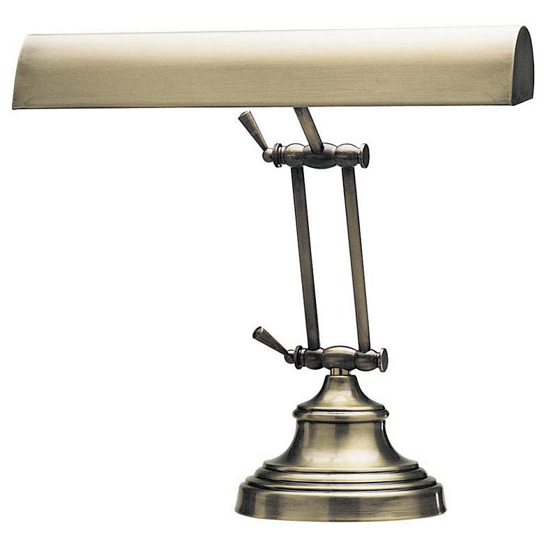 Antique Brass Adjustable Banker Piano Lamp by House of Troy