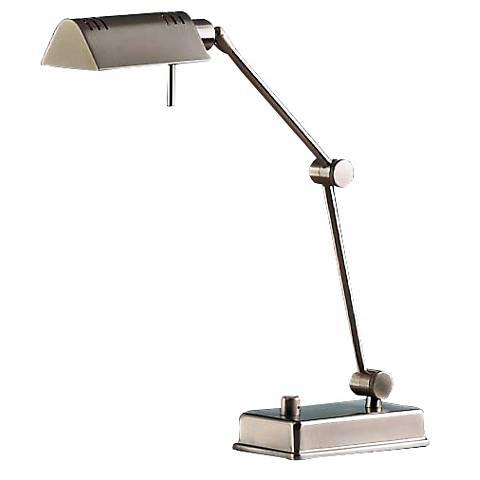 Holtkoetter Satin Nickel Pharmacy Desk Lamp
