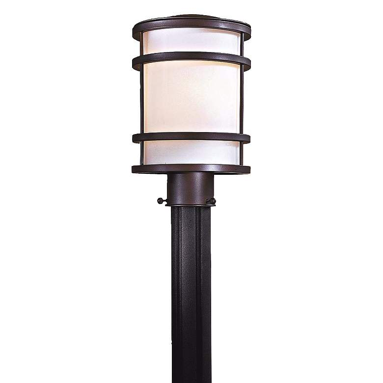 """Bay View Collection 12 1/4"""" High Bronze Post Mount Light"""
