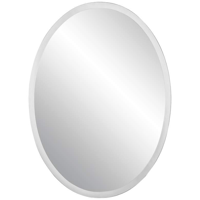 "Oval Regency 36"" High Beveled Wall Mirror"