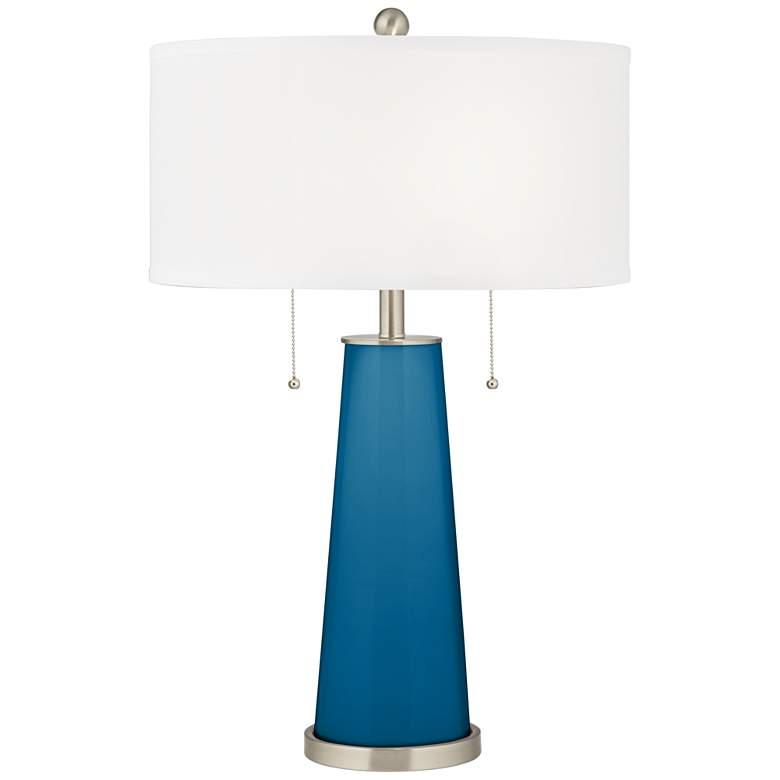 Mykonos Blue Peggy Glass Table Lamp