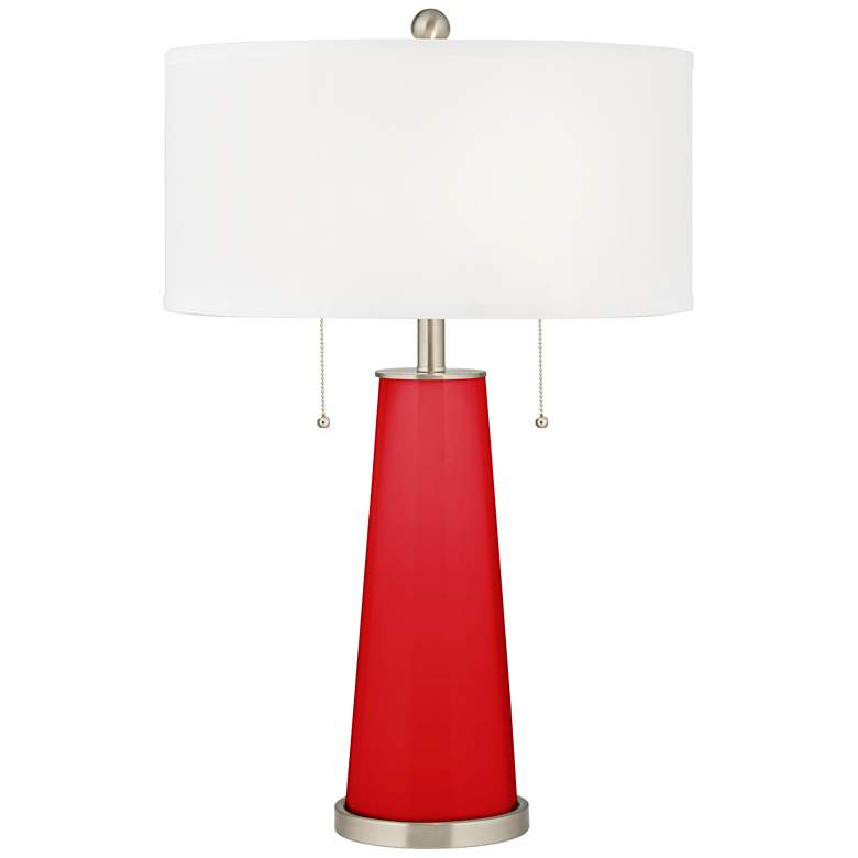 Bright Red Peggy Glass Table Lamp