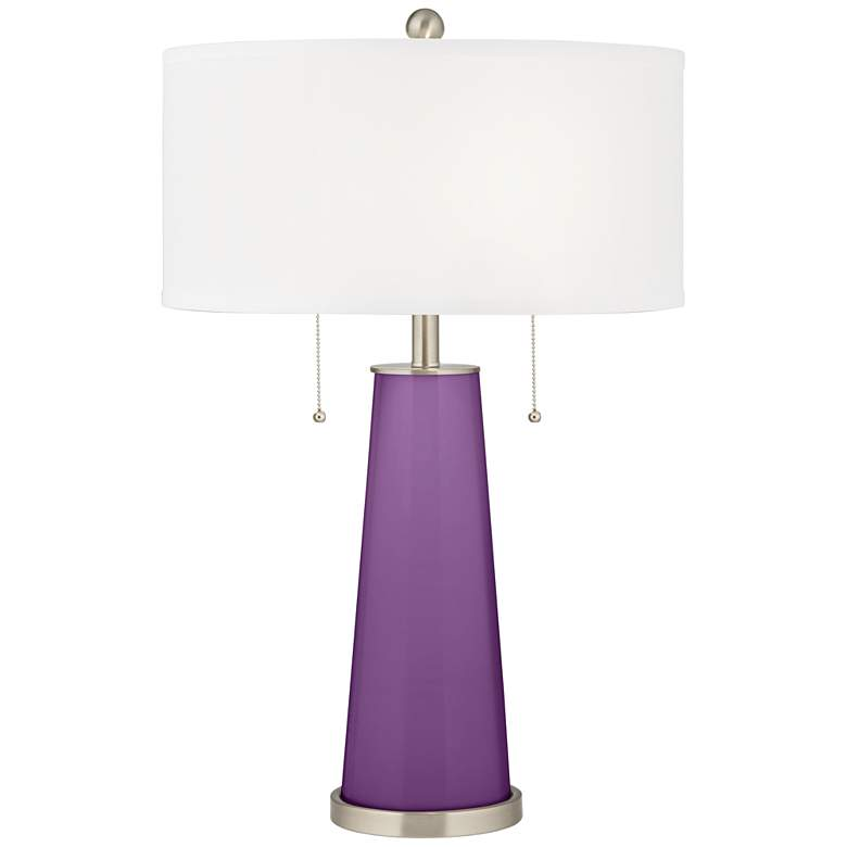 Passionate Purple Peggy Glass Table Lamp