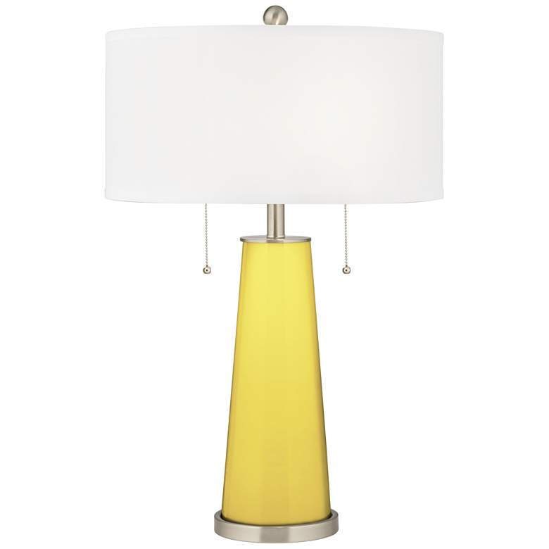Lemon Twist Peggy Glass Table Lamp