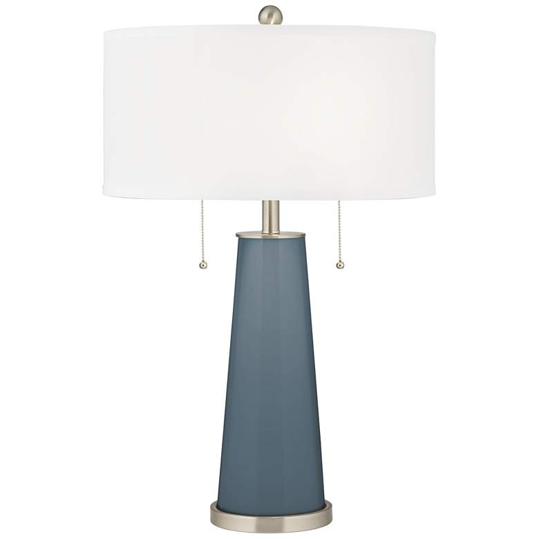 Smoky Blue Peggy Glass Table Lamp