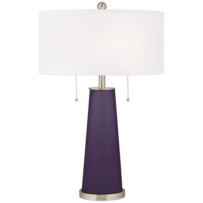 Quixotic Plum Peggy Glass Table Lamp