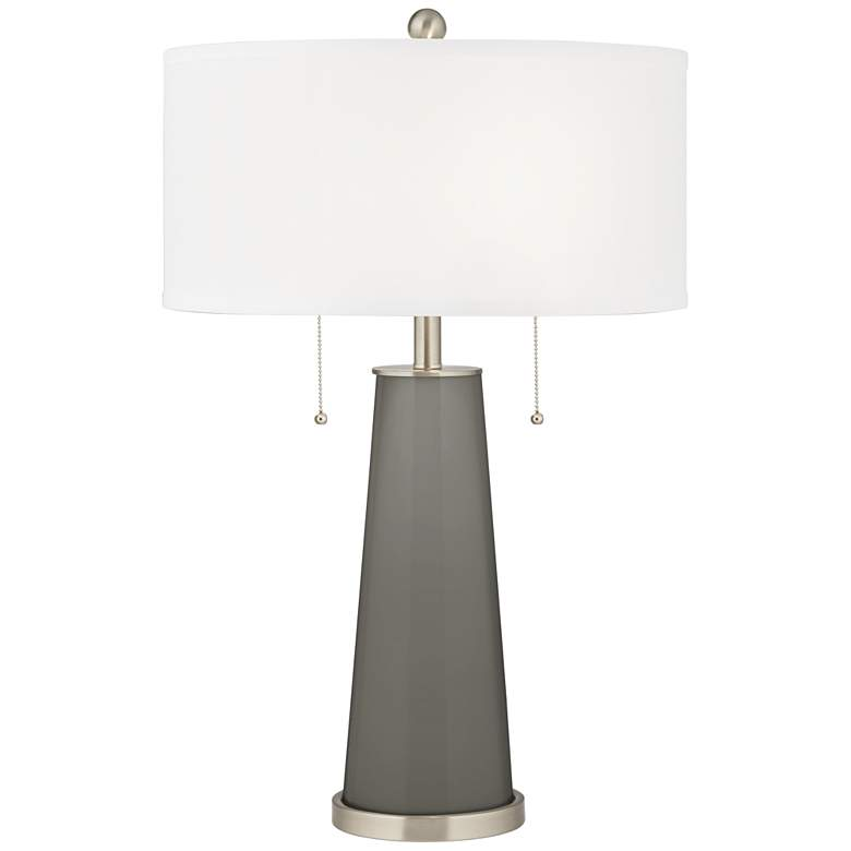 Gauntlet Gray Peggy Glass Table Lamp