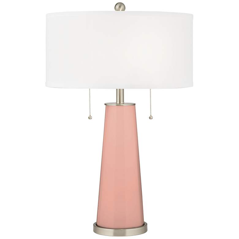 Mellow Coral Peggy Glass Table Lamp