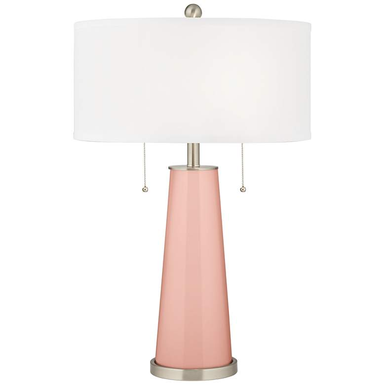 Rose Pink Peggy Glass Table Lamp