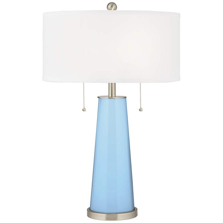 Wild Blue Yonder Peggy Glass Table Lamp